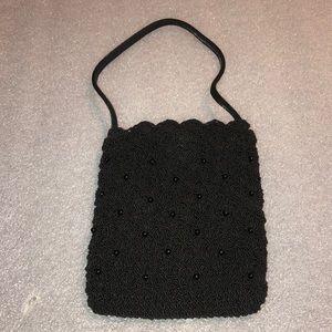 Old Navy Black Beaded Mini Wristlet